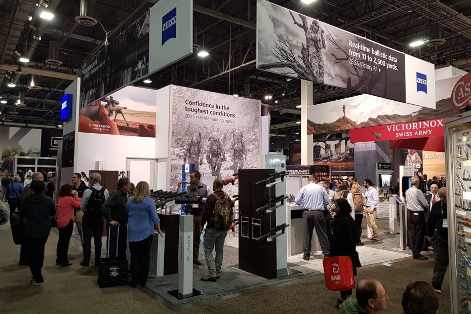 Zeiss' booth at Shot Show 2019