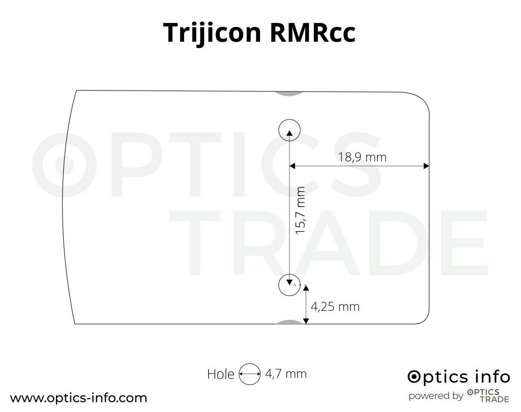 Trijicon RMRcc footprint