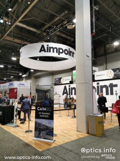 Aimpoint's booth at Shot Show 2020