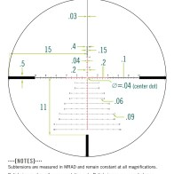 Vortex Razor LHT 4.5-22x50 FFP Riflescope - XLR-2 MRAD Reticle (source: Vortex Optics)