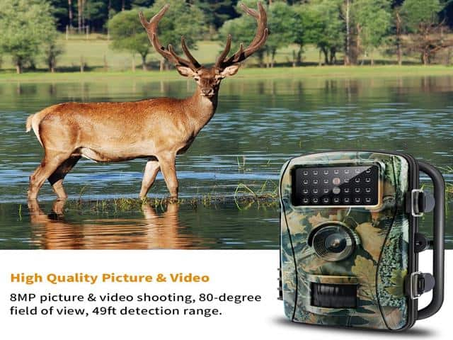 ENKLOV Trail Game Camera 12MP 1080 Wildlife Hunting Camera With Infrared Night Vision