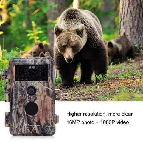 BlazeVideo Game Trail Camera Night Vision 16MP