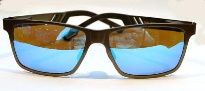 SANFORD Pilotenbrille Grau/Schwarz Blau verspiegelte Gläser A6560 60/13-134