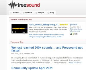 FREESOUND /30 WEBSITES FOR FREE DOWNLOAD OF VIDEO-IMAGES & MUSIC