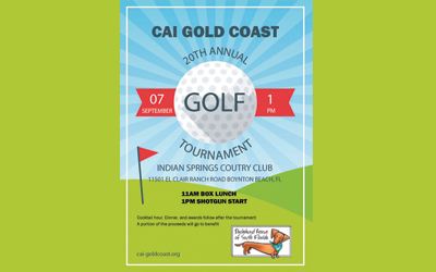 CAI Gold Coast 20th Annual Golf Tournament 9/7/2018