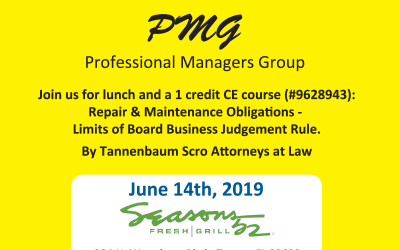 Professional Managers Group: Lunch & 1 Credit CE Course *MANAGERS ONLY*