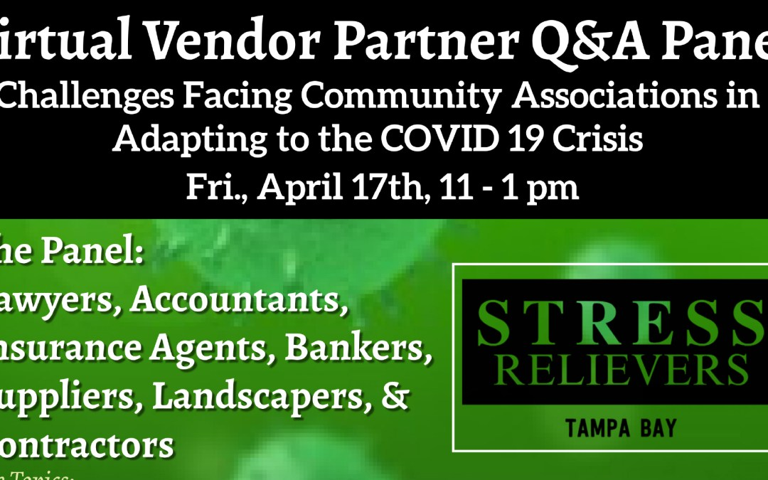 Stress Relievers Virtual Vendor Partner Q&A Panel
