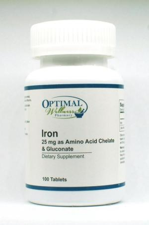 Iron (25 mg as Amino Acid Chelate & Gluconate)