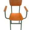 Chaise Scolaire Maitre, Bois Multiplié+Faux Meuble Pied Epoxy T25, CL0020