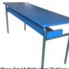 Table Prés Scolaire BiPlaces, Résine, Pied Epoxy T32,[120X45X55TLS0003
