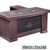Bureau Marron chocolat+Retour MDF A-8028[180X90X76]