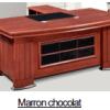 Bureau Marron chocolat +Retour MDF A-8091[220X110X76]