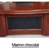 Bureau Marron chocolat+Retour MDF A-8006[200X100X76]