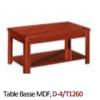 Table Basse MDF, D-4/T1260 [120x60x45], Acajou/Marron Chocolat