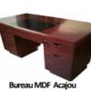 Bureau MDF Acajou A-1432 [140X70X76],