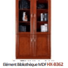 Elément Bibliothèque MDF HX-B362 02 Portes, [80X40X200], Acajou