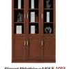 Elément Bibliothèque MDF B-1033 03 Portes, [120X40X200], Acajou,