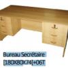Bureau Secrétaire [180X80X74]+06T BLM0015,