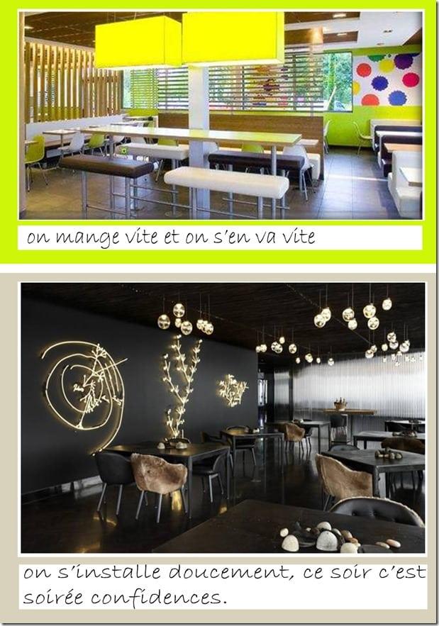 architecture d'intérieur - décoration fastfood slowfood