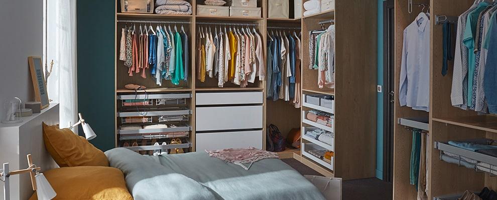 Suite parentale avec dressing : comment l\'aménager - Optimise mon espace