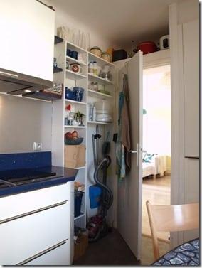 mini-arrière cuisine dans petite cuisine