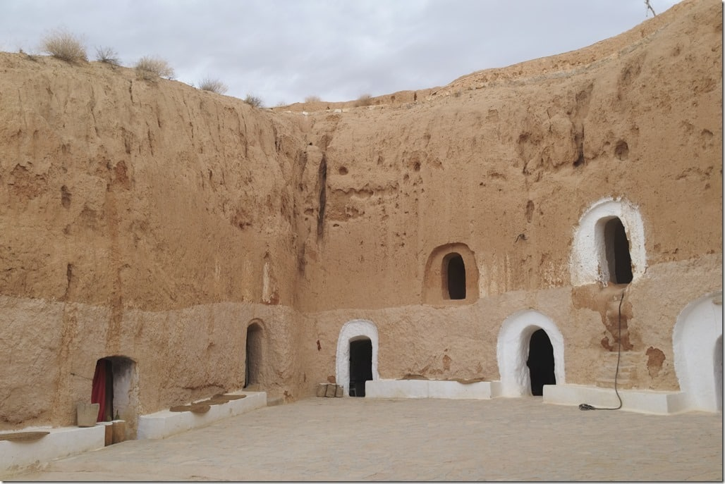 maison troglodyte Matmata Tunisie : le patio