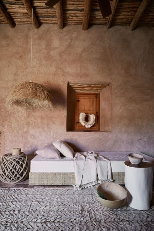 idée d'un mur wabi sabi