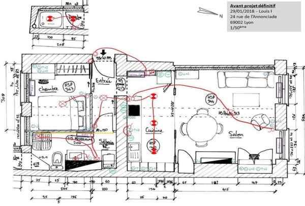 reconversion architecte d'intérieur : dessiner un plan électrique avec l'Atelier HOME