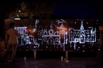 Силата на водно-светлинните графити