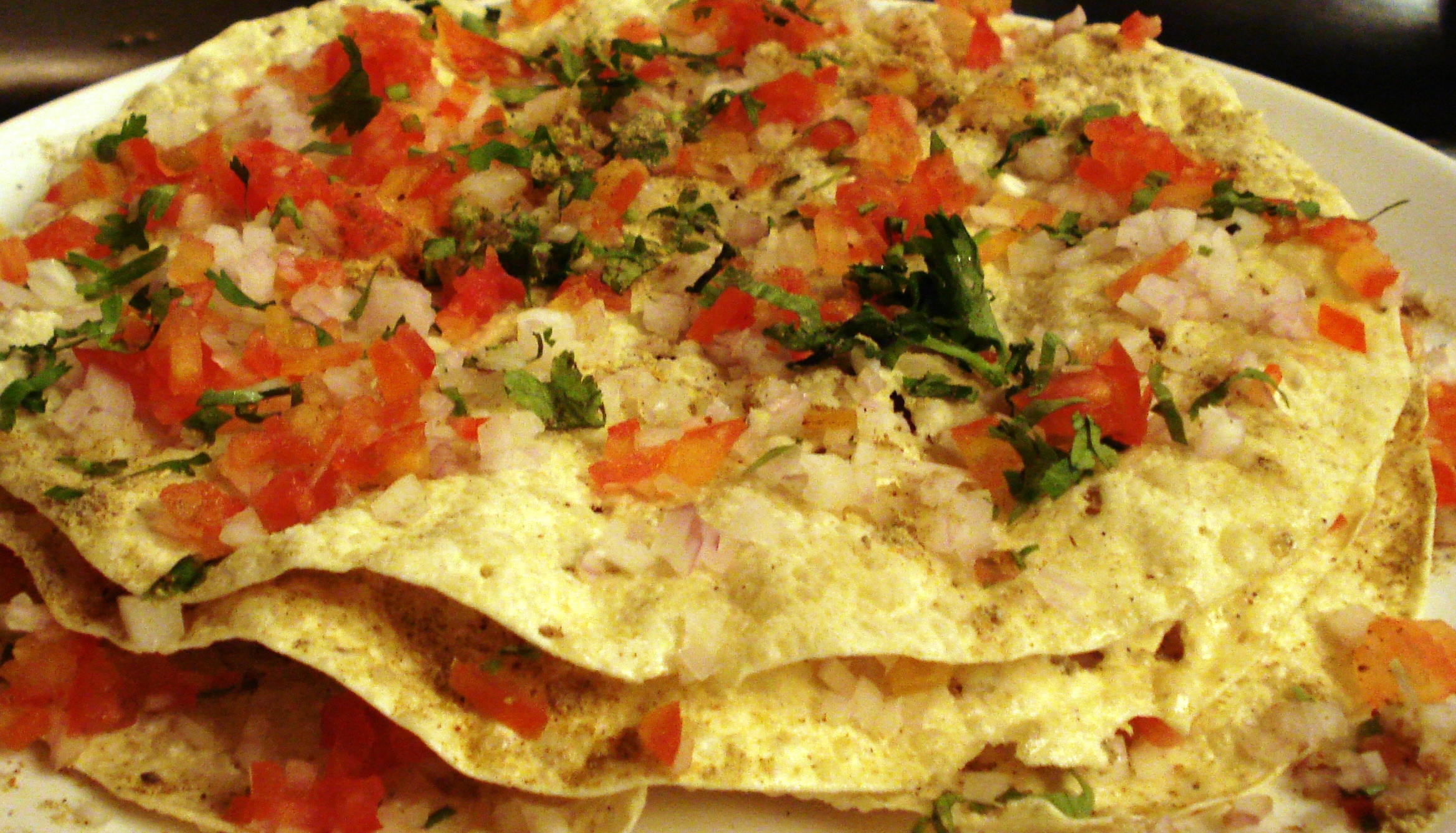 oil free Masala Papad snacks