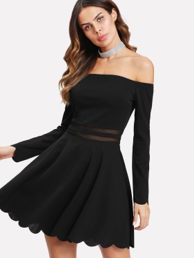 sexy off shoulder black dress