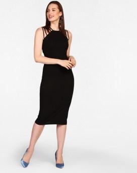 Black sexy bodycon dress
