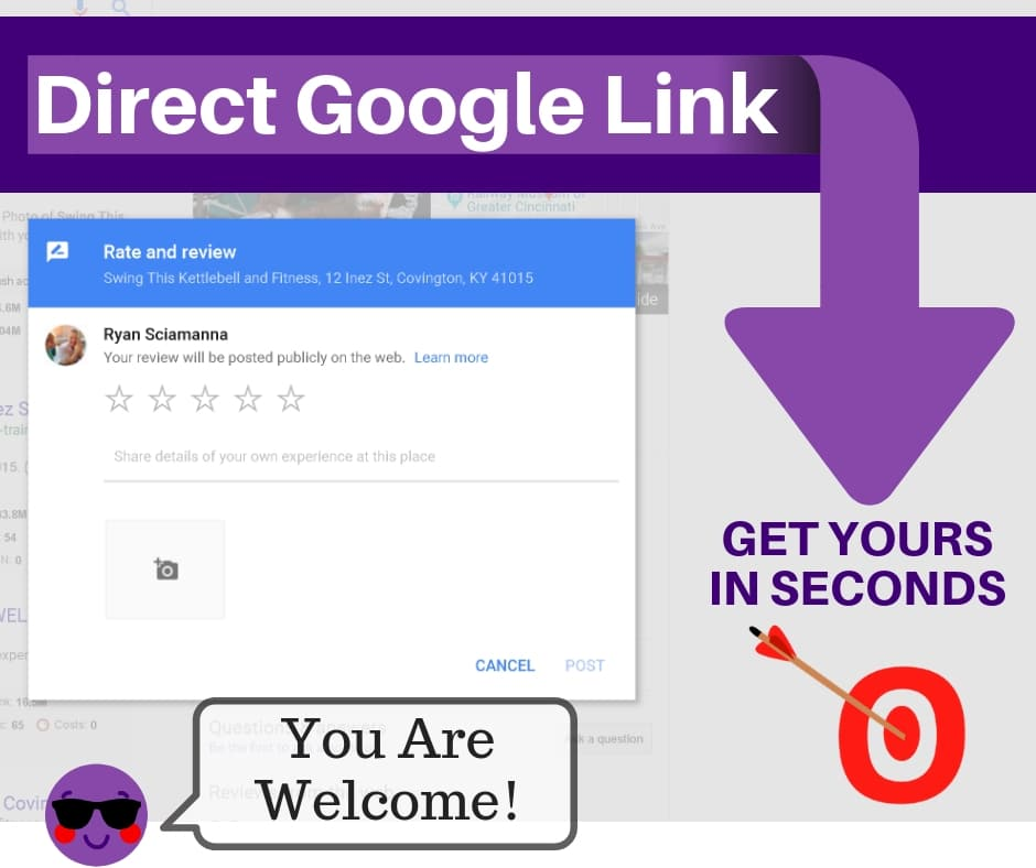 100% FREE TOOL » Grab Your Direct Google Review Link Now