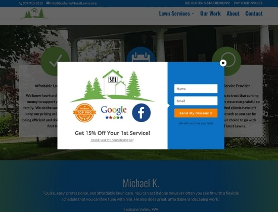 Service Business Website Design