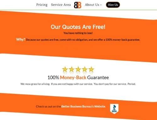 B N B Lawn Mowings Homepage