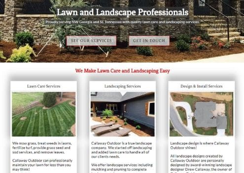 High End Landscape Design Website In Atlanta GA
