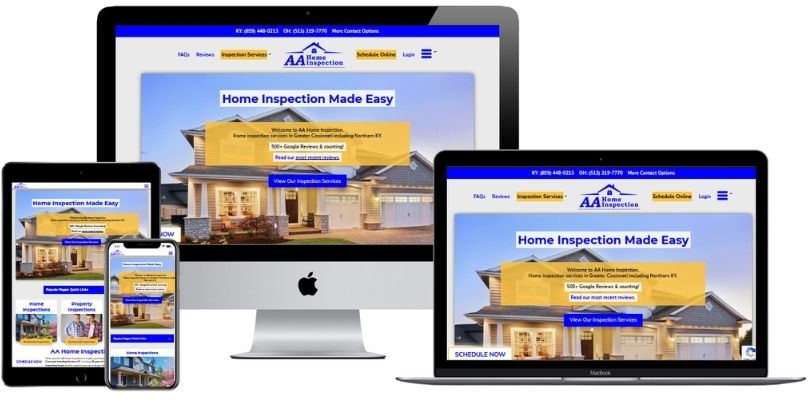 AAHomeInspection net website