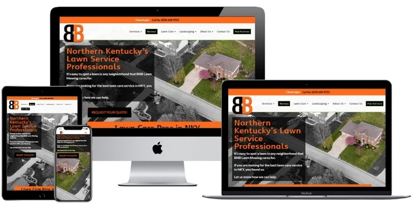 BNBLawnMowing com website