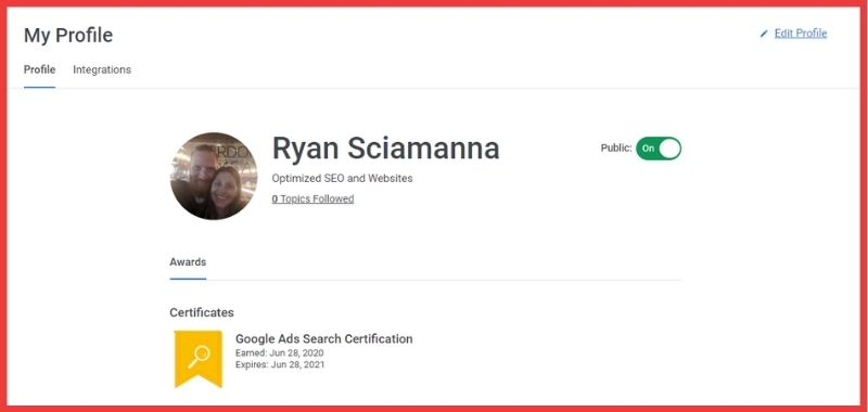 Google Ads Certified in Search