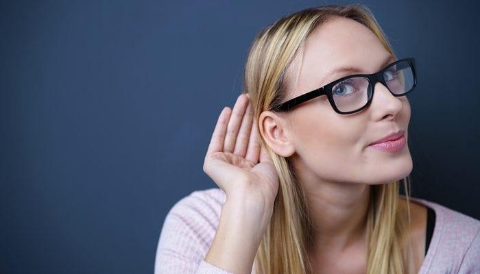 Beautiful woman listening