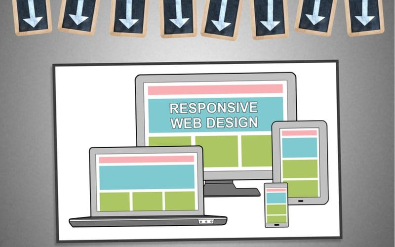 Responsive Design with Arrows Pointing