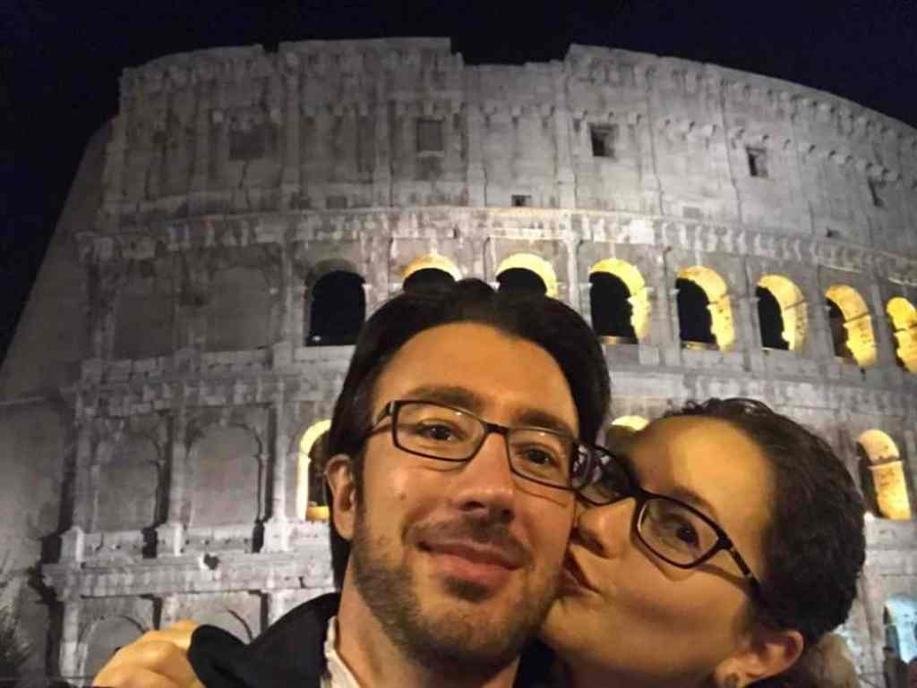 Me and my wife in front of the Colosseum in Rome
