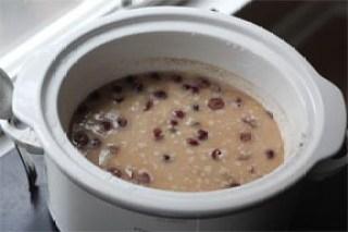 Watery, loose oatmeal.