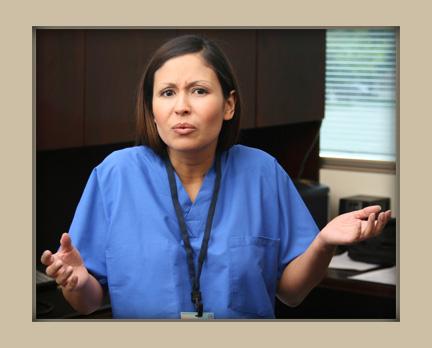 question-nurse asking