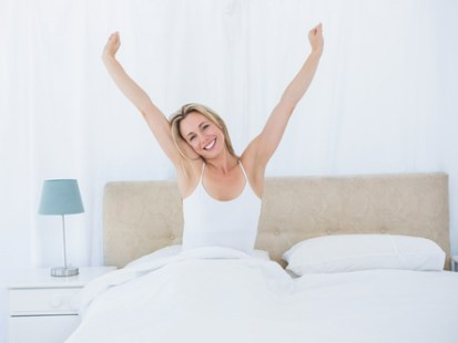 Well Rested Woman Awakening