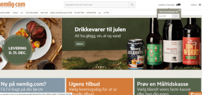 Danish online supermarket start-up sees massive growth, also in the 65+ segment  Nemlig.com is a Danish online supermarket for everybody delivering organic food, discount food, branded food and so on to the customer via an easy and convenient home-delivery solution.