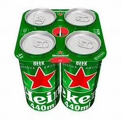 - Heineken are now also stopped using the plastic ring method on the can packs.
