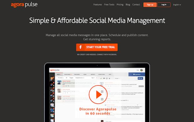mejores herramientas de marketing en redes sociales - agorapulse