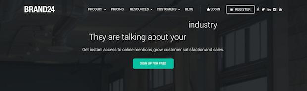 mejores herramientas de redes sociales - brand24