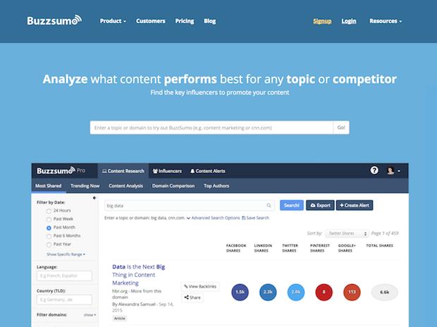 herramientas de marketing en redes sociales - buzzsumo